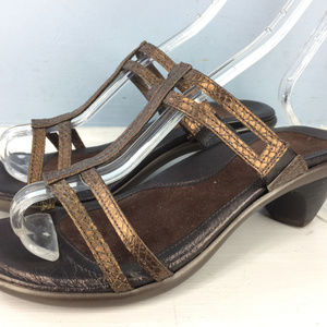 NAOT Brown Strappy leather Low Heels 37 sandals